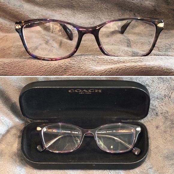 3e238c7bd0e8 Coach Accessories | Purple Confetti Rectangle Eye Glasses | Poshmark